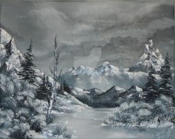 Snowy mountains by Canvas-Colors