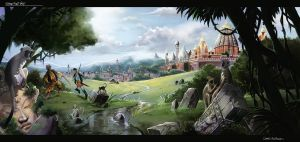 The Legend of King Nal Environment Concept Art 11 by RodGallery