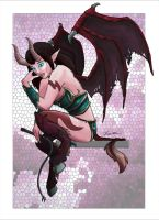 Nimynn - WoW Succubus COLOURED by Cyroris
