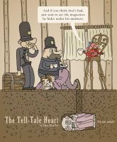 The Tell-Tale heart in one panel by mapacheanepicstory