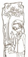 Roderich Lineart Bookmark by IChiTa--WiYa