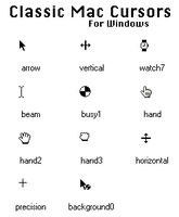Mac OS 9 Cursors for Windows by Nonme85851