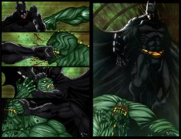 Batman vs Killer Croc by ErikVonLehmann