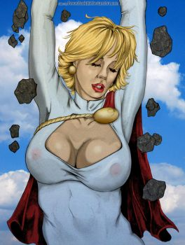 Crumble Power Girl By Dw Miller Colored by powerbook125