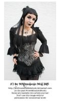 Gothic Lady Stock 002 by MADmoiselleMeliStock