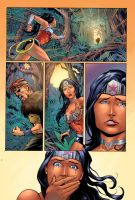 Wonder Woman page Colors by Memo Regalado by V3dd3rMan