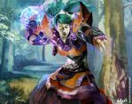 WoW CARD - UNDEAD MAGE by Vandrell