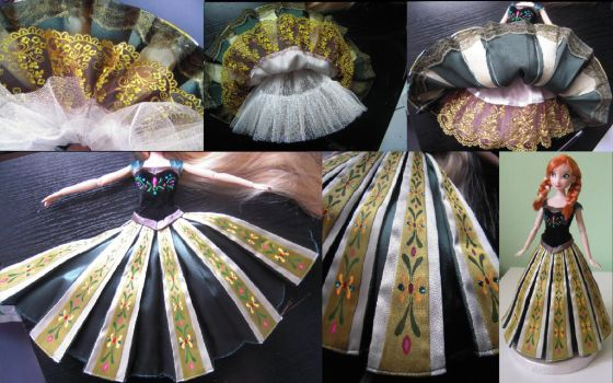 Anna's coronation dress detail - Frozen by andies098