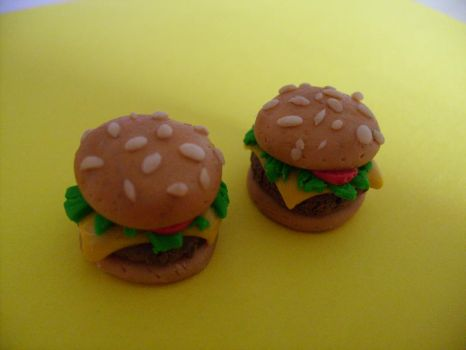 Mcdonald's Cheeseburger Hair Accessories To Be by PossumPip-Creations