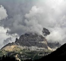 Lavaredo and clouds by edelweiss26