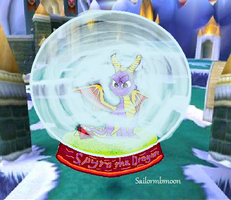 Spyro Snow Globe Design by CraftyMaelyss
