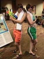 Hitachiin Twins Beach Cosplay 1 by Zombie-Necromancer23