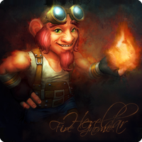 Fire Gnome by Hereldar
