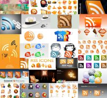 over 800 free rss icon for web by atilazz