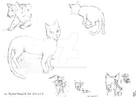 Free sketch- Cat sketch by Sherry-the-alchemist
