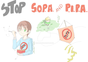 STOP SOPA AND PIPA by aninhachanhp