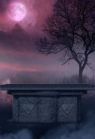 purple night II premade bg by starscoldnight by StarsColdNight