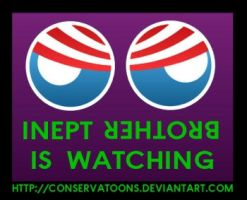 Inept Obama is Watching by Conservatoons