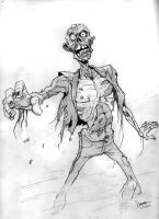 Zombie Sketch by abnormalbrain