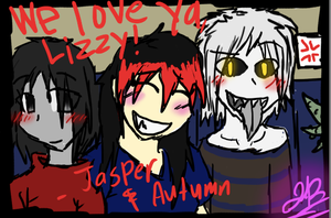 Autumn, Lizzy, Jasper AND GreaSer. by BBSMJ