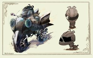 Ant on a motorcycle by Miyukiko