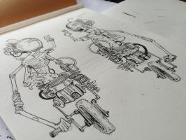 Space cycling-alien. Inking Video by HJeojeo