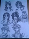 FF 7 Avalanche headshots by lustyvampire