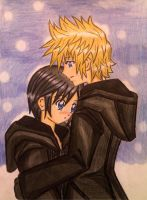 Roxas x Xion: under the snow by d19 by dagga19