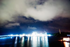 Sentosa IR Night Skyline by zeediot