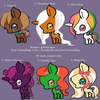 Southern Themed My Little Pony Adoptables [OPEN] by gothicsugar