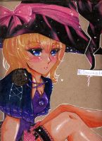 Cherry Blossom Witch Sketchbook Back Page Art by SweetPastelStars