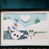 Olaf Layered Paper Cut piece - Commission by blackdog393