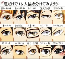 Haikyuu eye by kuroasumo