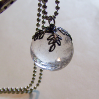 Quartz Crystal Ball Pendant by mymysticgems