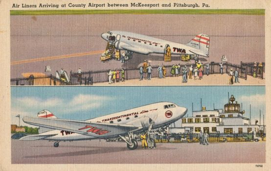 Vintage Pittsburgh - Allegheny County Airport by Yesterdays-Paper