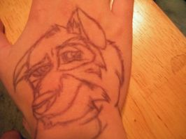 Inked Balto - Face Detail by CanineCanvas