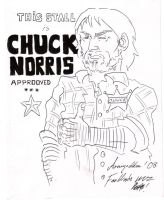 Chuck Norris Approves by FanWrks