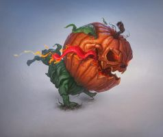 Pumpkin-dog by AlexeyZaporozhets