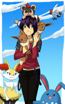 Pokemon XY : Yakusoku no Sora E by FlameWingsDawnslight