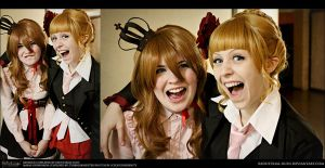 Umineko Cosplay: Beatrice and Maria: AHAHA.WAV by Redustrial-Ruin