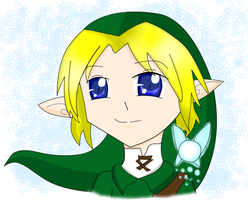 LOZ- Link and Navi by levenark