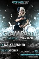 Glam Party Flyer PSD Template by outlawv15