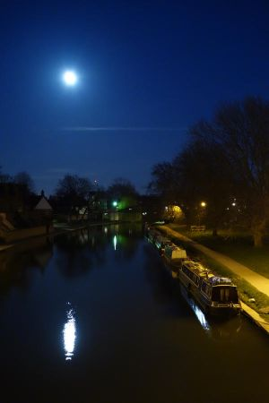 Moon on the Cam River by BlastedFen