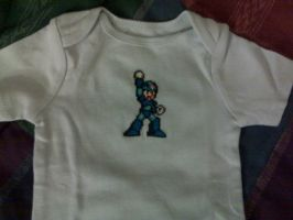 Mega Man - Cross-stitch Onesie by Craftigurumi