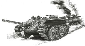 German E-10 prototype tank destroyer by shank117