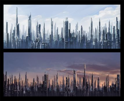 Future Cityscapes by KalaSketch