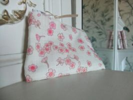 Cherry Blossom Purse by sewn-by-honeybirds