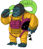 The Agreeable Gorilla Astronaut. by dumbfished