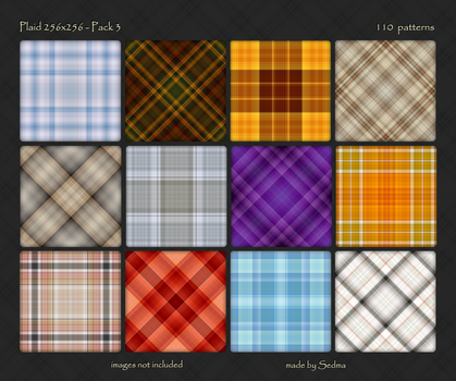 Plaid 256x256 - Pack 3 by Sedma