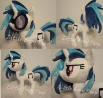 mlp Vinyl Scratch DjPon3 Plush by Little-Broy-Peep
